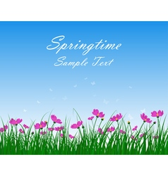 Springtime meadow vector