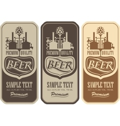 Beer labels with the brewery vector