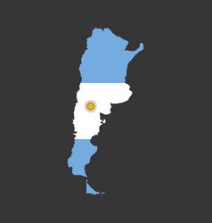 Argentina map with flag vector