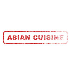 asian cuisine rubber stamp vector image vector image