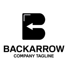 Backarrow design vector