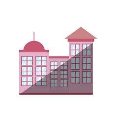 Building modern urban shadow vector