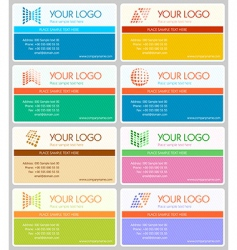 business cards set vector image vector image