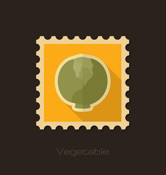 Cabbage flat stamp vegetable vector