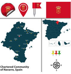 Chartered community of navarre spain vector
