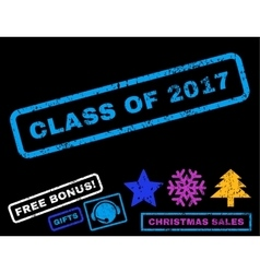 Class of 2017 rubber stamp vector