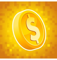 Dollar Coin Symbol vector image vector image