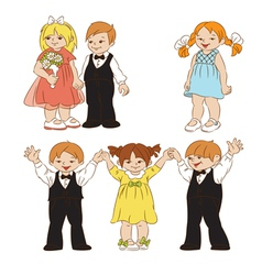 elegant children vector image