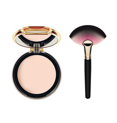 face cosmetic makeup powder vector image