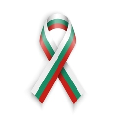 Flag of bulgaria abstract bulgarian ribbons vector