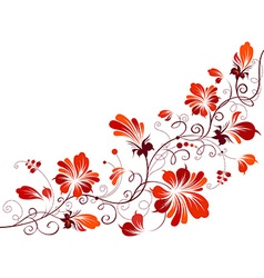 Floral vintage corner vector image vector image