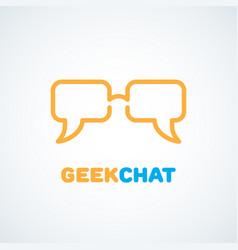 geek logo vector image vector image
