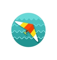Hang glider icon summer vacation vector