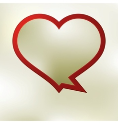 Heart speech bubble template EPS8 vector image