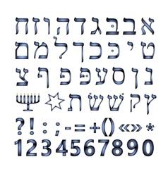 Hebrew font the hebrew language vector