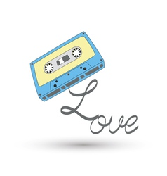 I love tape3 vector image