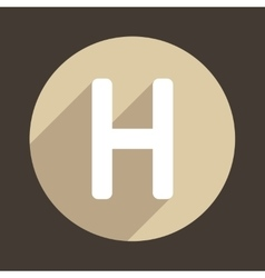 Letter h logo flat icon style vector