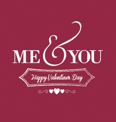 me you chalkboard red vector image vector image