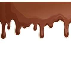 Milk chocolate drips background vector image