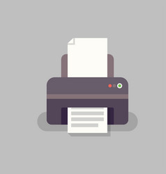 office printer in flat stile vector image vector image