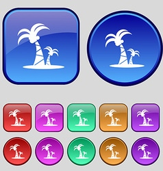 Paml icon sign a set of twelve vintage buttons for vector