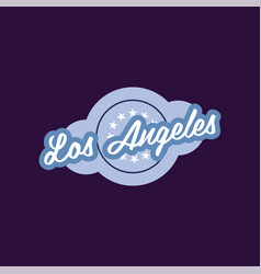 Retro logo of los angeles city california usa vector
