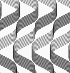 Ribbons making waves with dark and light pattern vector image