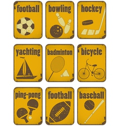 Set of sport separate signs vector