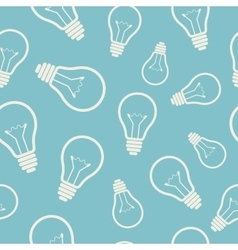 Simple light bulb seamless pattern vector image vector image