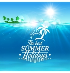 Summer holidays travel poster background vector image