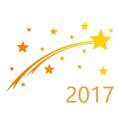 Turn of the year 2017 vector