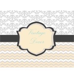 Vintage card with damask ornament vector image vector image