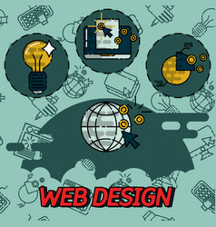 web design flat concept icons vector image