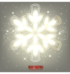 Elegant glowing snowflake Background vector image