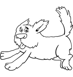 Running shaggy dog cartoon for coloring vector