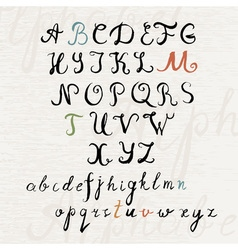 Handwritten brush style calligraphy font vector