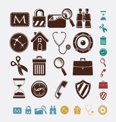 icons for internet vector image