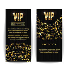 vip invitation card party premium blank vector image