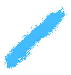 blue paint brush stroke vector image
