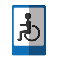 Disabled zone traffic signal vector