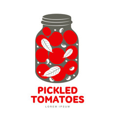 pickles glass jar flat vector image