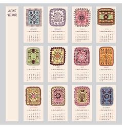 2015 year ethnic calendar design vector