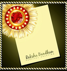 Creative indian rakhi vector