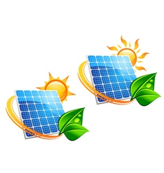 solar energy panels vector image