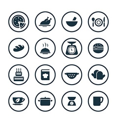 Cooking icons universal set vector