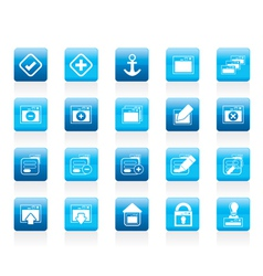 Server and computer icon vector