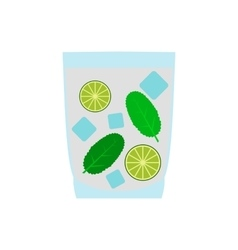 Caipirinha cocktail drink icon flat style vector