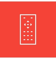Remote control line icon vector