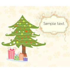 presents with tree vector image
