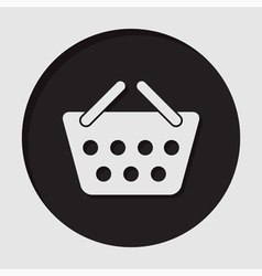 Information icon - shopping basket vector